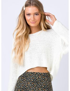 Nerin Jumper White by Princess Polly