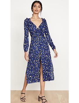 Blue Leopard Scarlett Dress by Rahi