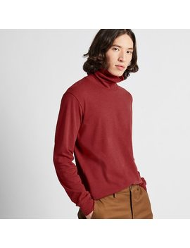 Men Soft Touch Turtleneck Long Sleeved T Shirt (4) by Uniqlo