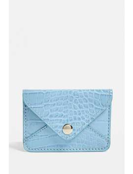 Uo Croc Envelope Cardholder Wallet by Urban Outfitters