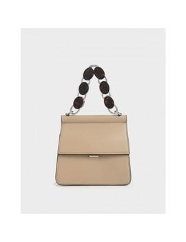 Small Acrylic Tortoiseshell Top Handle Bag by Charles & Keith