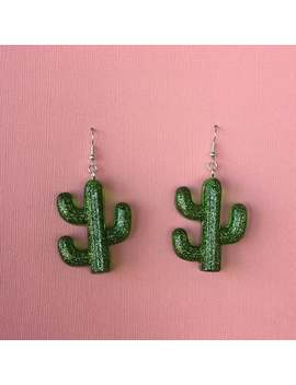 Cactus Earrings by Etsy