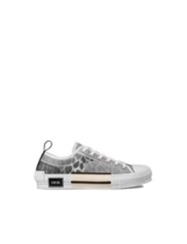 """B23"" Low Top Sneaker In Gray Leopard Print by Dior"