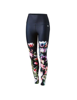 Running Bare Womens Ab Waisted Bianca Fight Club Tights by Running Bare