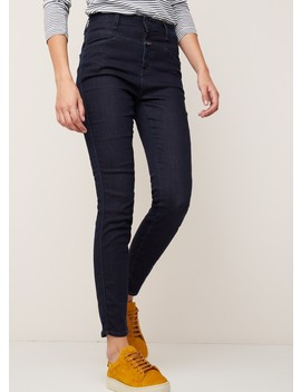Closed High Waist Skinny Fit Jeans Met Donkere Washing by Closed