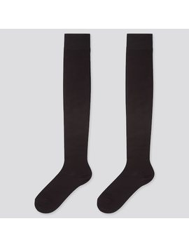women-heattech-over-the-knee-socks-(two-pairs) by uniqlo
