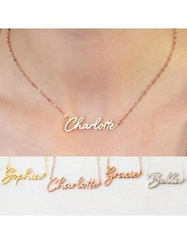 Nom Collier En Argent Sterling   Custom Name Necklace In Gold, Rose Gold   Cadeau Personnalisé Pour Elle   Nh02 F68 by Etsy