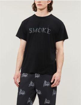 Graphic Print Cotton Jersey T Shirt by Amiri