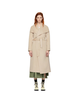 Tan Wool Mai Wrap Coat by Mackage