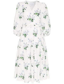 Floral Print Midi Dress by Les Reveries