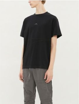 Overlock Logo Print Cotton Jersey T Shirt by A Cold Wall