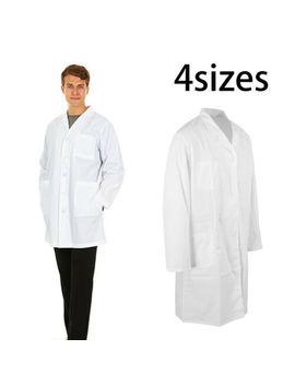 Unisex White Hospital Uniform Lab Coat Medical Doctor Long Coats Jackets Nursing by Ebay Seller