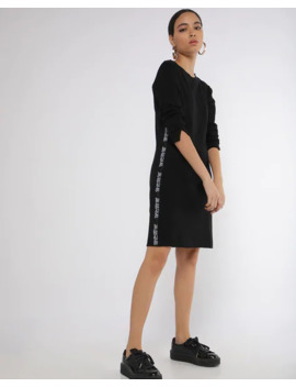 Textured Sheath Dress With Contrast Taping by French Connection