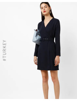 Wrap Dress With Detachable Belt by Trendyol