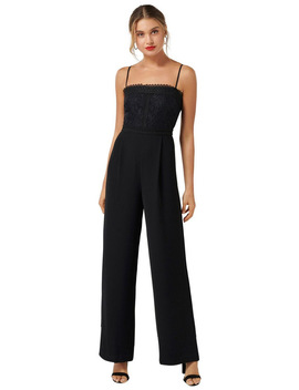 Bailey Lace Bodice Jumpsuit by Forever New