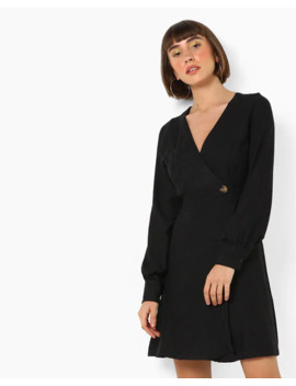 V Neck Wrap Dress by Trendyol