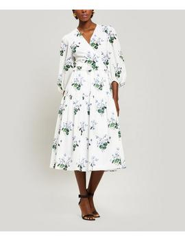 Floral Cotton Wrap Dress by Les Rêveries