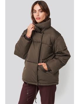 Padded Oversized Jacket Black by Na Kd Trend