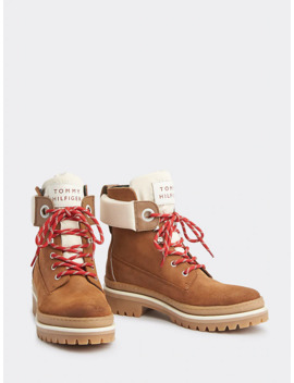 Outdoor Style Lace Up Suede Boots by Tommy Hilfiger