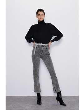 Jeans Z1975 High Rise CinturÓn Joya by Zara