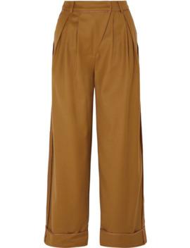 Daria Pleated Wool Blend Wide Leg Pants by Andersson Bell