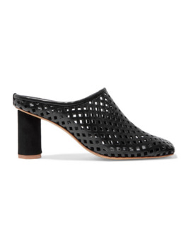 Rond Laser Cut Leather Mules by Salondeju
