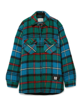 Checked Wool Shirt by We11done