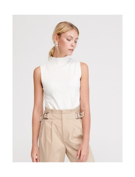 Mock Neck Jersey Top by Reserved
