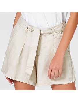 Linen Shorts   Natural by Target