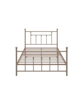 Mia Pink Full Size Metal Bed by Dhp