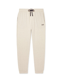 Slim Fit Tapered Mélange Stretch Cotton Jersey Sweatpants by Hugo Boss
