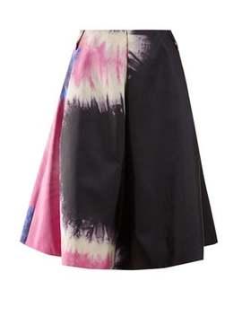 Tie Dye Print Silk Skirt by Prada