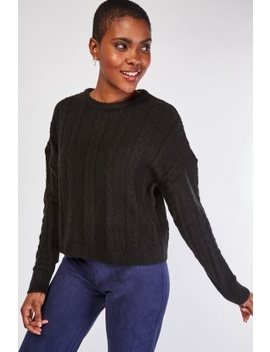Perforated Cable Knitted Jumper by Everything5 Pounds
