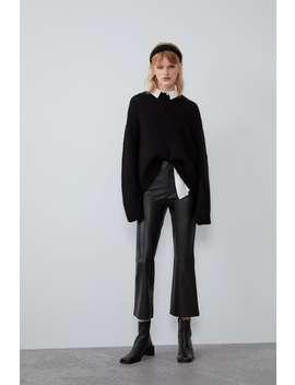 Leggings A Campana Effetto Pelle by Zara