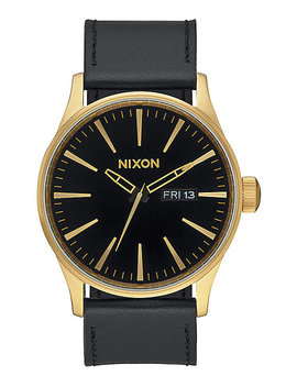 Nixon Sentry Leather Gold &Amp; Black Analog Watch by Nixon Watches