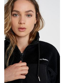 Iets Frans... Fleece & Nylon Black Jacket by Iets Frans...