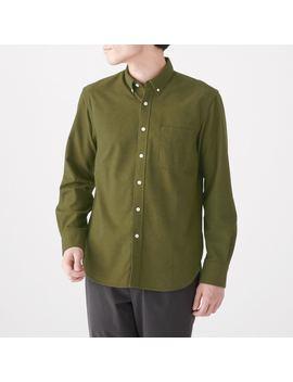 Xinjiang Cotton Flannel Button Down Shirt by Muji