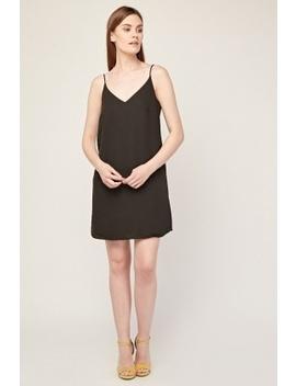 Chiffon Slip On Black Dress by Everything5 Pounds