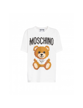 Pixel Capsule Teddy Bear T Shirt by Moschino