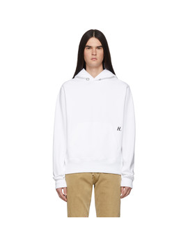 White Masc Hoodie by Helmut Lang