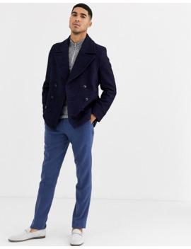 Gianni Feraud Premium Wool Blend Peacoat by Asos