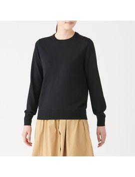 Wool Silk Crew Neck Sweater by Muji