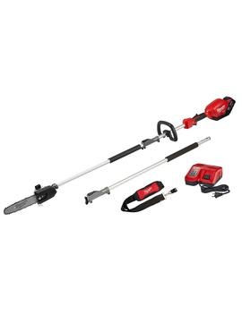 M18 Fuel 18 Volt Lithium Ion Brushless Cordless 10 In. Pole Saw Kit With Attachment Capability And 9.0 Ah Battery by Milwaukee