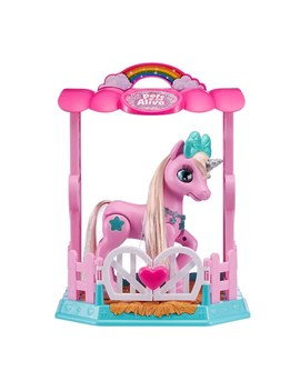 Pets Alive My Magical Unicorn And Stable Playset Pink by Smyths