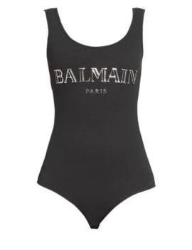 Slim Strap Logo Bodysuit by Balmain
