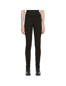 Black Easy Nagakin Leggings by Rick Owens
