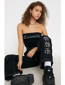 Bdg Diamante Text Black Skate Jeans by Bdg