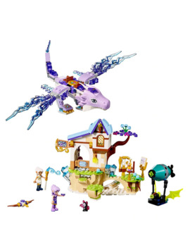 Elves Aira & The Song Of The Wind Dragon Building Blocks 41193 Legoings Elves Figures Bricks Model Toys Gift by Ali Express.Com