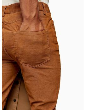 Rust Micro Corduroy Stretch Skinny Pants by Topman