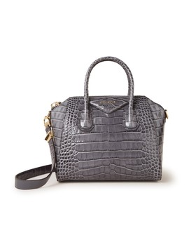 Antigona Small Handtas Van Kalfsleer Met Crocostructuur  by Givenchy
